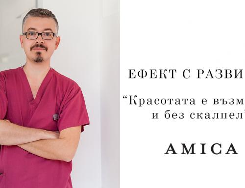 """За FACETITE, революцията в неоперативния лифтинг – интервю за списание """"Amica"""""""